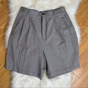 "Bobby Jones Classic Print Pleated Golf Shorts 8"""